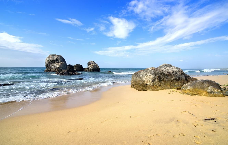 Photo wallpaper sand, sea, wave, beach, shore, summer, beach, sea, blue, sand, shore, paradise
