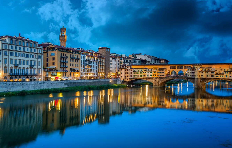 Photo wallpaper bridge, river, building, Italy, Ponte Vecchio Florence