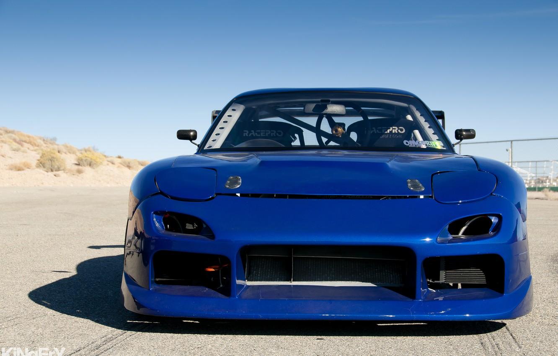 Photo wallpaper tuning, Mazda, blue, blue, tuning, Mazda, RX-7