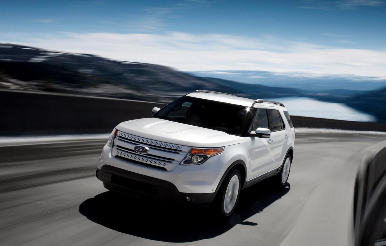Photo wallpaper Ford, jeep, explorer, pejzazh