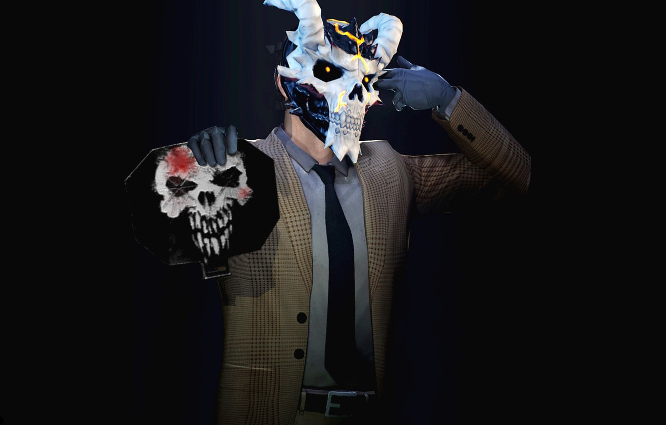 Photo wallpaper Background, Mask, Wallpaper, Dallas, Dallas, Overkill Software, PAYDAY 2