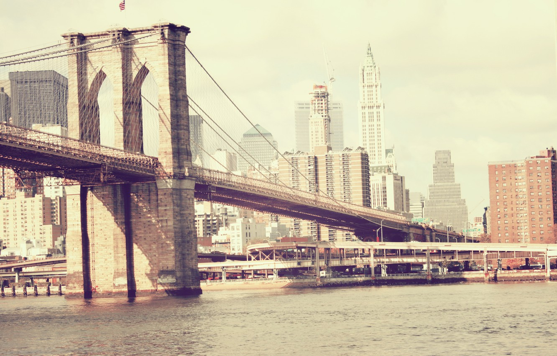 Photo wallpaper bridge, new York, Brooklyn