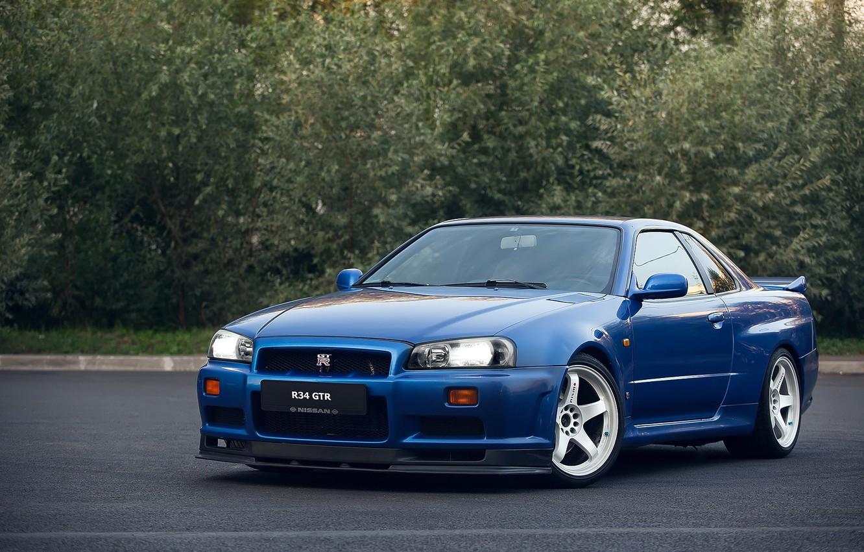Photo wallpaper GTR, Nissan, Skyline, R34, V-SPEC
