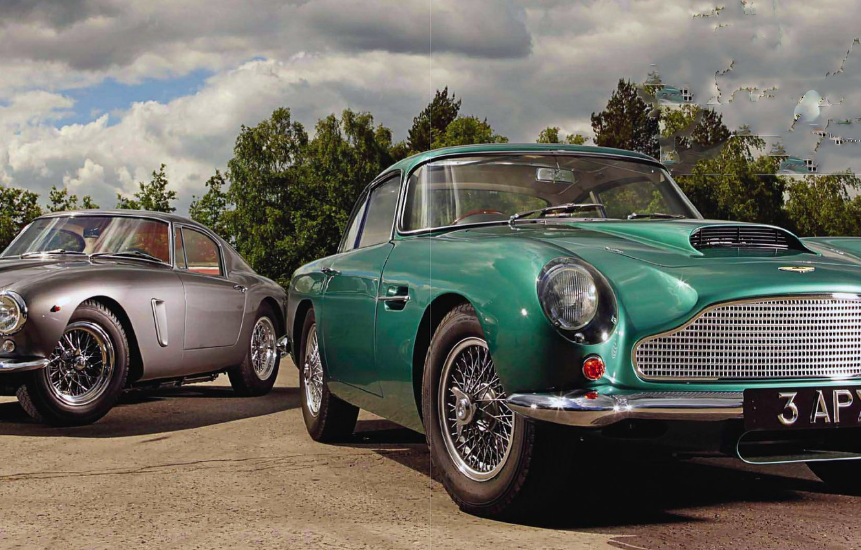 Photo wallpaper Aston, Martin, Ferrari, 250 GT, DB4, SWB