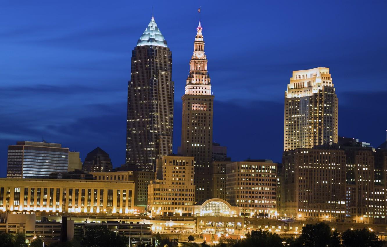 Photo wallpaper city, the city, USA, Cleveland, Ohio, Cleveland