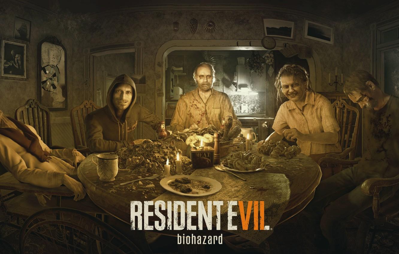 Photo wallpaper Game, Biohazard, Dinner, Resident Evil 7