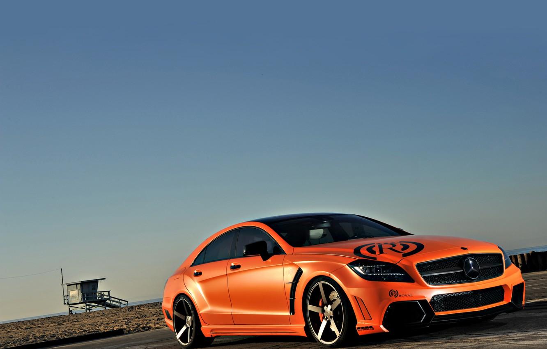 Photo wallpaper Mercedes, Orange, Auto