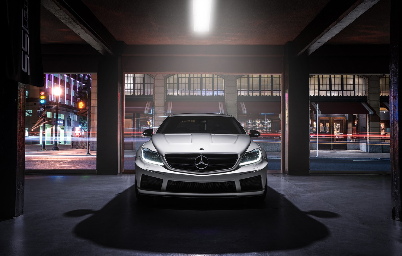 Photo wallpaper Mercedes-Benz, Body, Front, AMG, Wide, Ligth, CL63, Customs