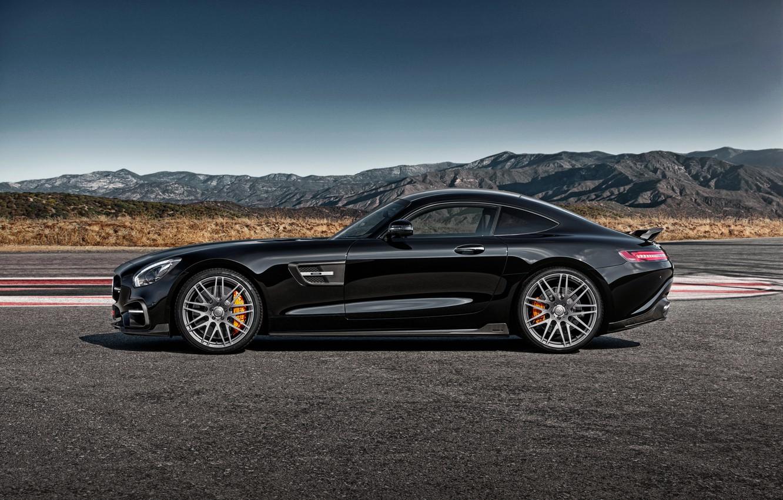 Photo wallpaper black, Mercedes-Benz, Brabus, Mercedes, AMG, Black, BRABUS, AMG, 2015, GT S, C190