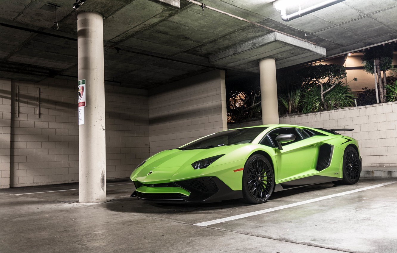 Photo wallpaper green, Lamborghini, Aventador