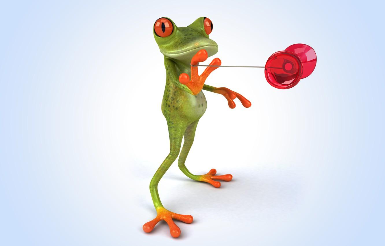 Photo wallpaper frog, frog, funny