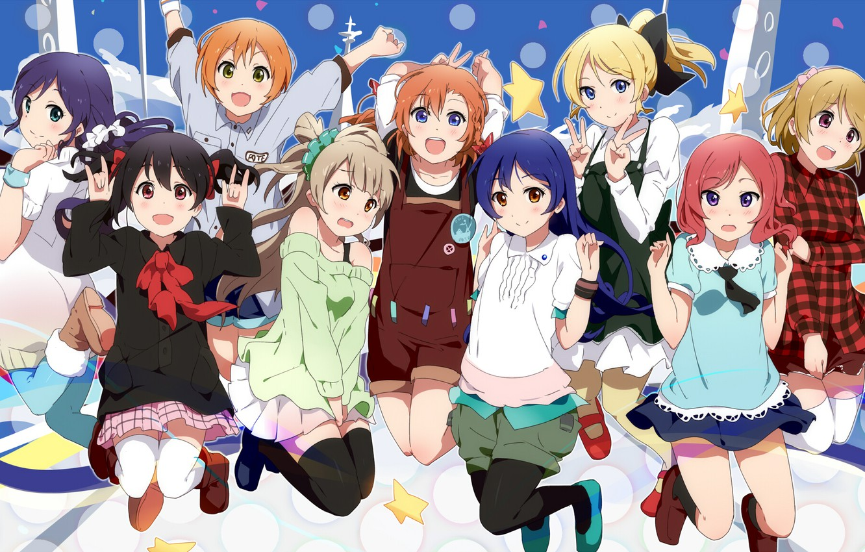 Photo wallpaper Love Live! School Idol Project, Toujou Nozomi, Kousaka Honoka, Minami Kotori, Sonoda Umi, Hoshizor To …