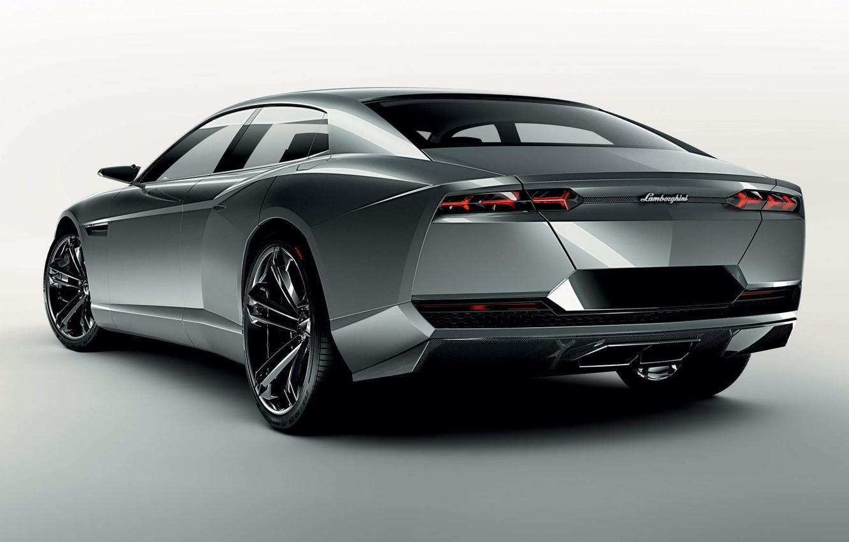 Photo wallpaper tuning, concept, car, the concept, silver, Lamborghini, tuning, back, estate, lamborghini estoque