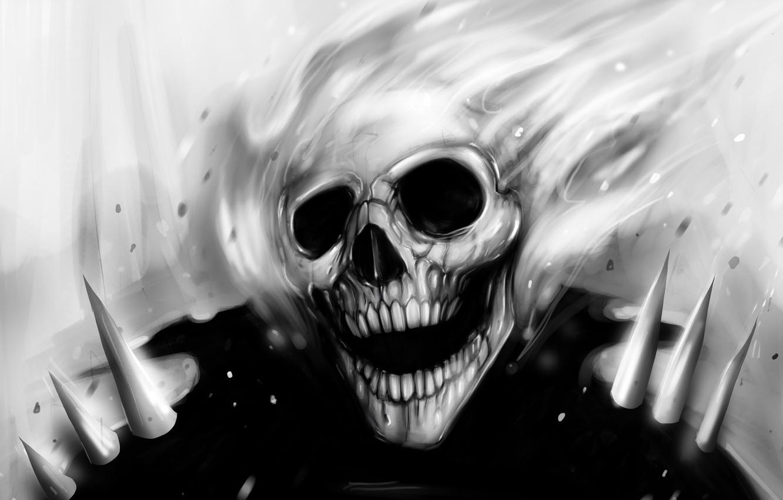 Photo wallpaper fire, sake, black and white