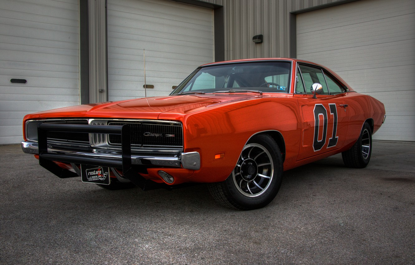 Photo wallpaper 1969, Dodge, Charger, General, Lee