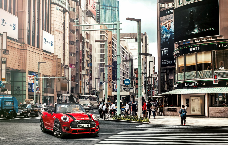 Photo wallpaper city, the city, Mini, mini, Cooper, Cabrio, Cooper S, F57