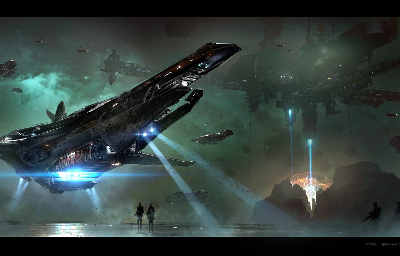 Photo wallpaper game, spaceship, Star Citizen