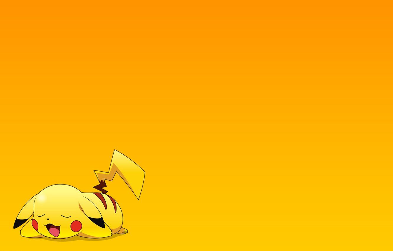Photo wallpaper stay, Wallpaper, cartoon, sleep, anime, Pikachu, pokemon, pokemon, Pikachu