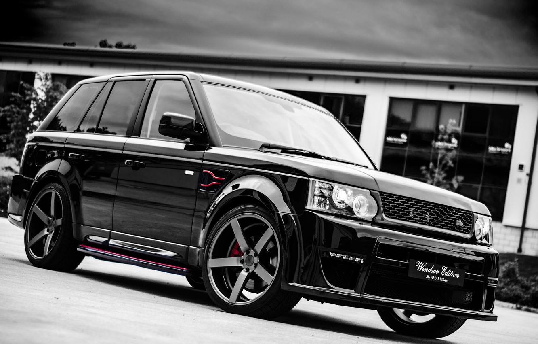 Photo wallpaper black, sport, Land Rover, Range Rover, black, Sport, range Rover, land Rover, Windsor Edition, tuning …