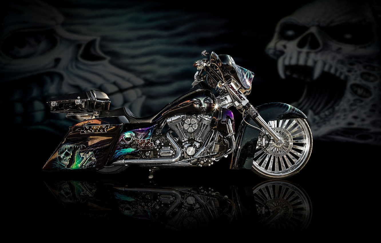 Photo wallpaper design, style, background, power, motorcycle, airbrushing, bike