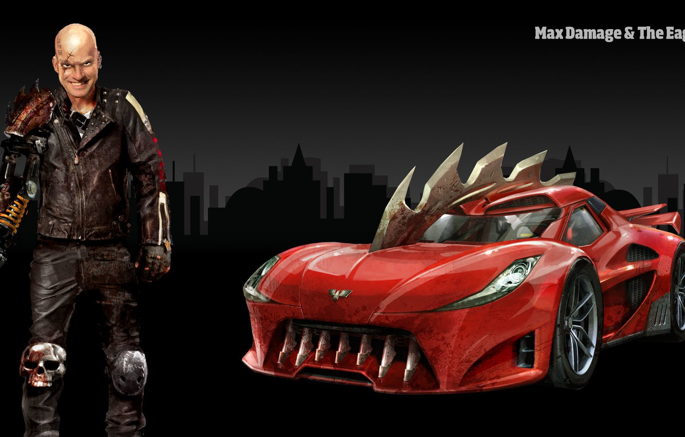 Photo wallpaper The game, People, Car, Carmageddon Reincarnation, Max Damage, The Game, The Eagle