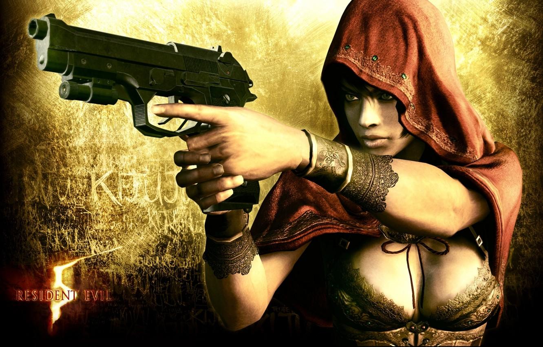 Wallpaper Girl Gun Hood Sheva Alomar Resident Evil 5 Images