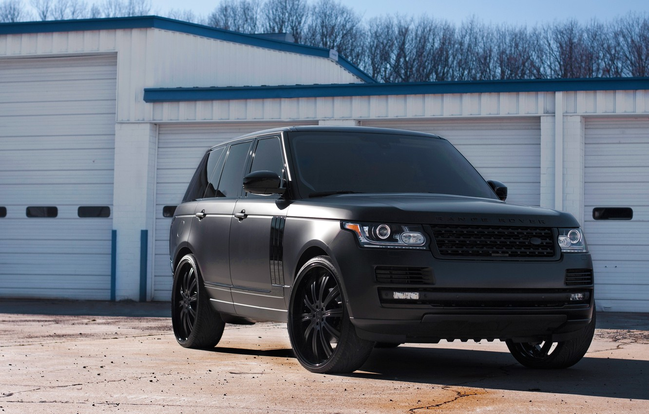 Range Rover Matte Black >> Wallpaper Shadow Land Rover Range Rover The Front Range Rover