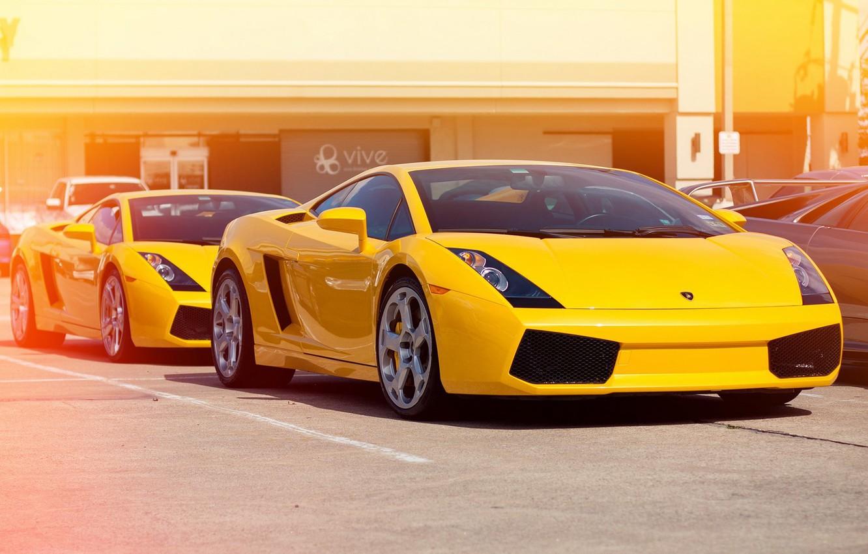 Photo wallpaper yellow, Lamborghini, Gallardo, yellow, Lamborghini, Gallardo