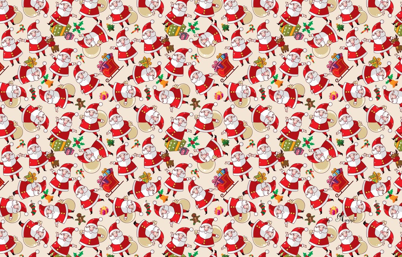 Photo wallpaper cookies, gifts, Santa Claus