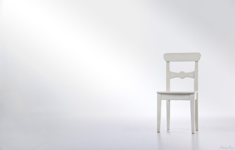 Photo wallpaper white, furniture, minimalism, chair, Studio