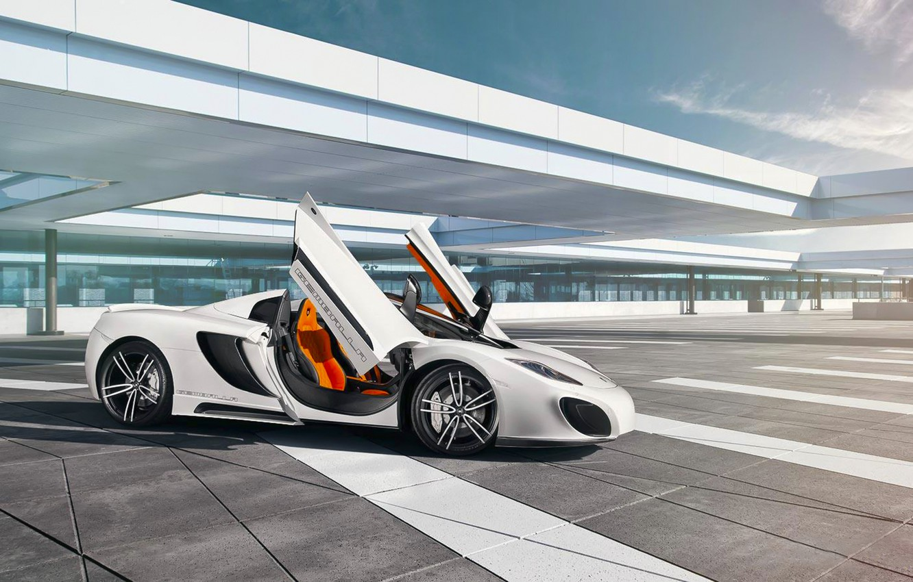 Photo wallpaper Sky, Gemballa, Front, White, Spider, Supercar, GmbH