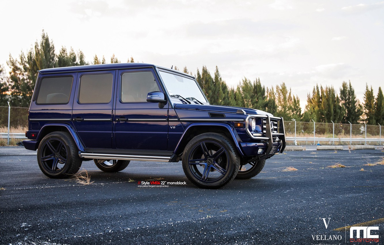 Photo wallpaper blue, vellano, Mercedes-Benz G550