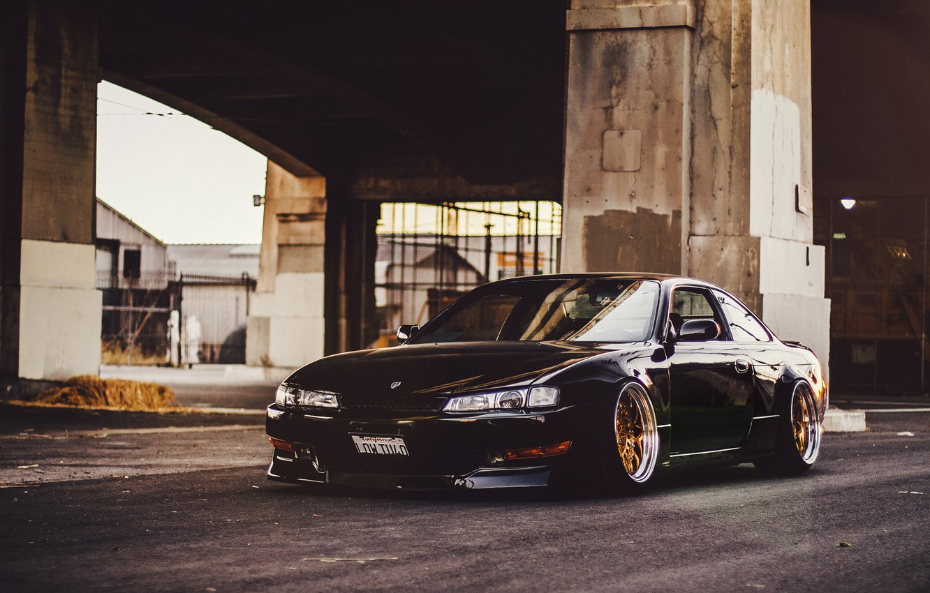 Photo wallpaper tuning, nissan, black, black, Nissan, low, Sylvia, s14, 240sx, stance