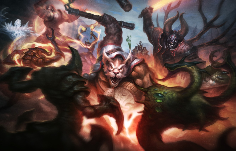 Photo wallpaper dota 2, Doom, Lucifer, Mangix, Brewmaster