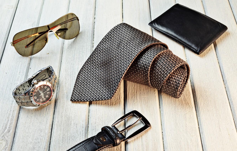 Photo wallpaper watch, belt, sunglasses, tie, wallet