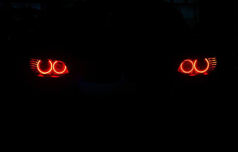 Photo wallpaper lights, bmw, BMW, angel eyes, e92, running lights