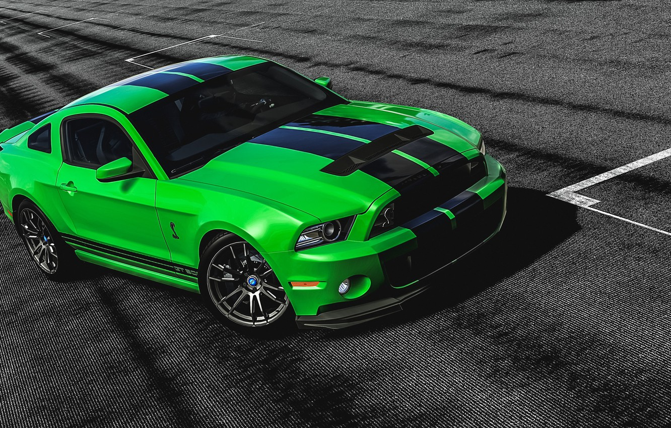 Photo wallpaper Mustang, Ford, Shelby, GT 500, Green, Gran Turismo 6