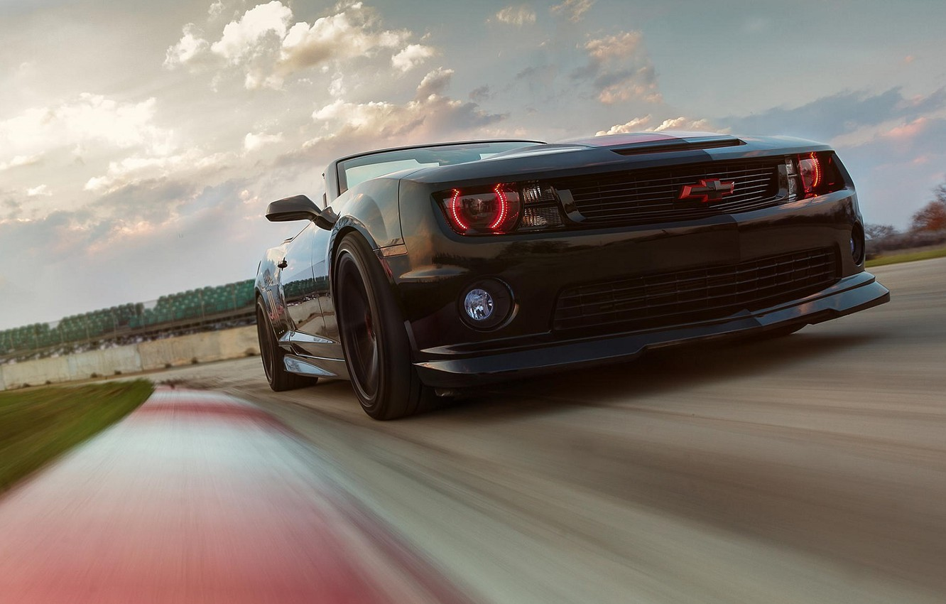 Photo wallpaper Chevrolet, Muscle, Light, Camaro, Red, Car, ZL1