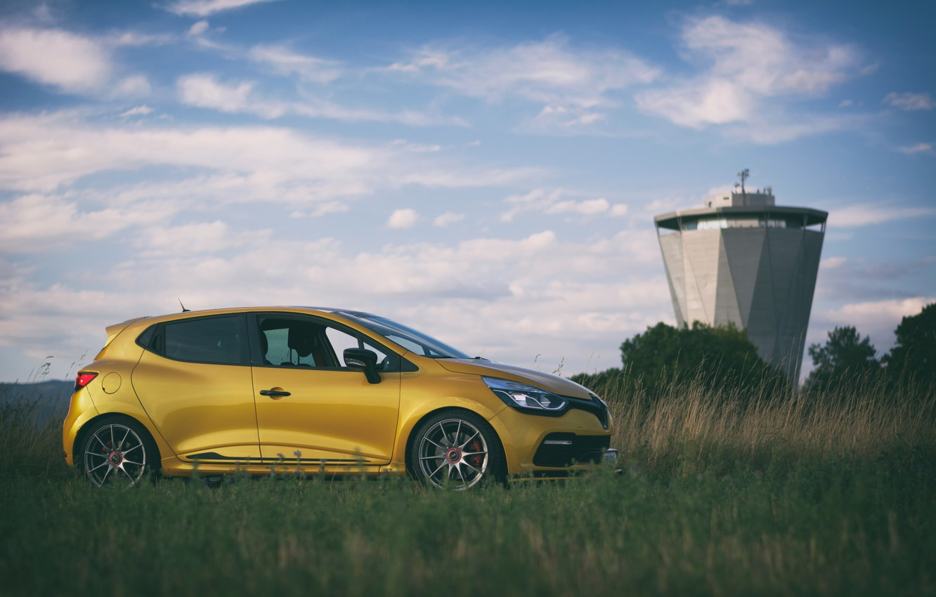 Photo wallpaper Renault Clio, OZ Formula HLT, Liquid Yellow