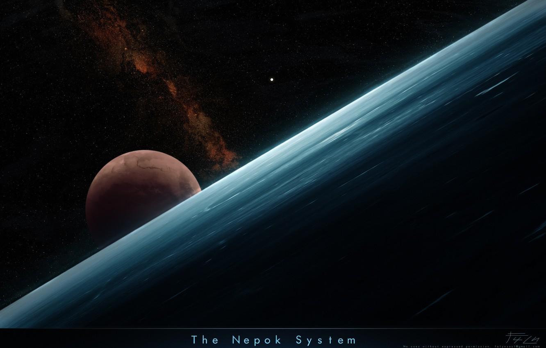 Photo wallpaper stars, cosmos, planets