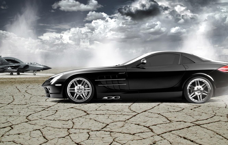 Photo wallpaper McLaren, Mercedes-Benz, SLR, Wallpaper