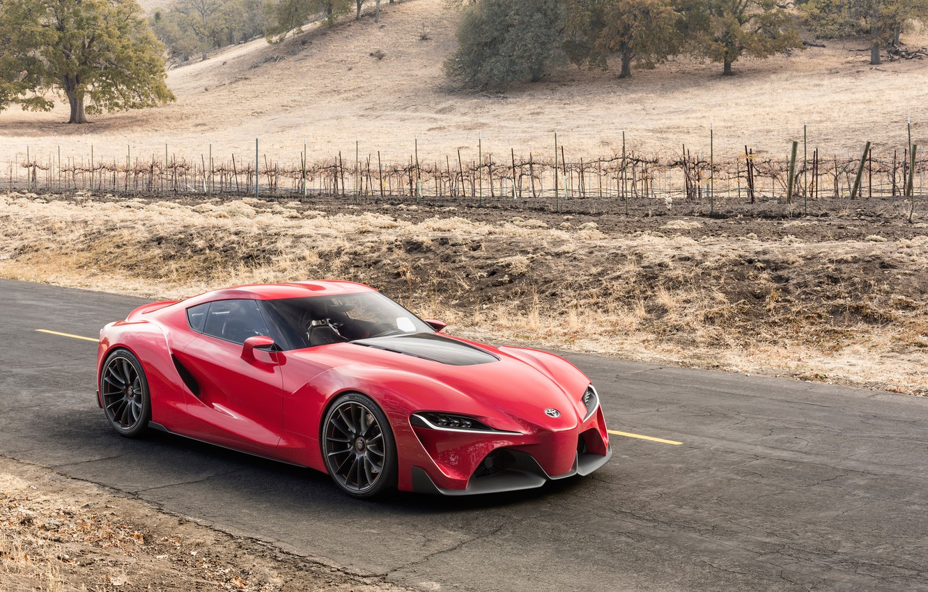 Photo wallpaper auto, Concept, red, the concept, Toyota, beauty, Toyota, FT-1