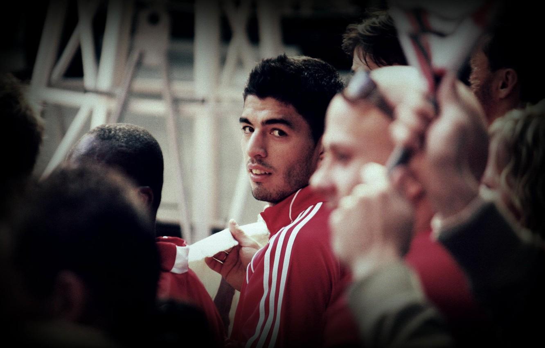 Photo wallpaper football, goal, liverpool, player, suarez, Luis suarez