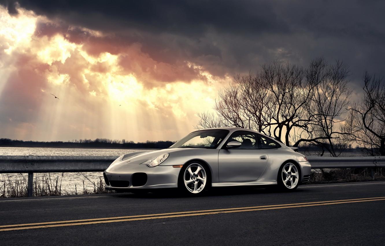 Photo wallpaper car, clouds, Porsche, porsche 911 carrera