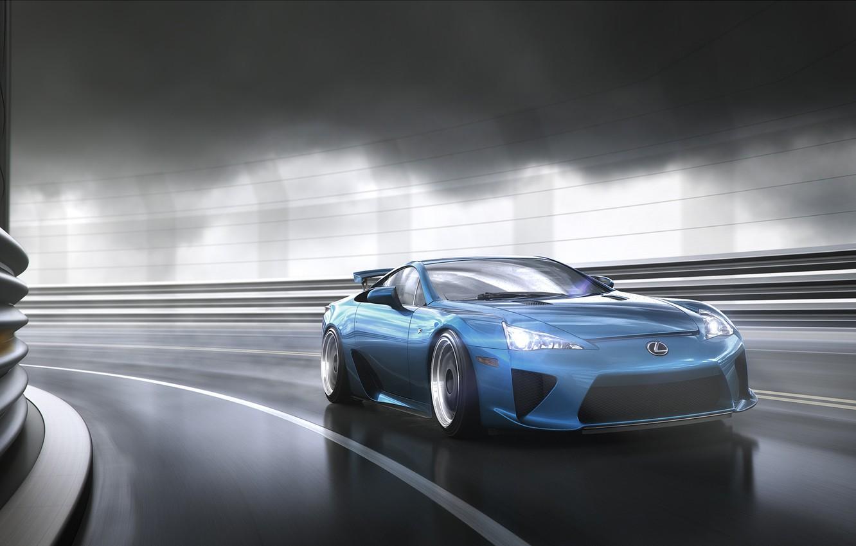 Photo wallpaper in motion, Lexus, lexus lfa
