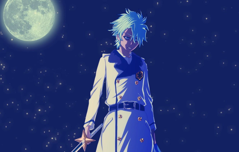 Wallpaper night, the moon, sword, anime, zombie, guy, Bleach