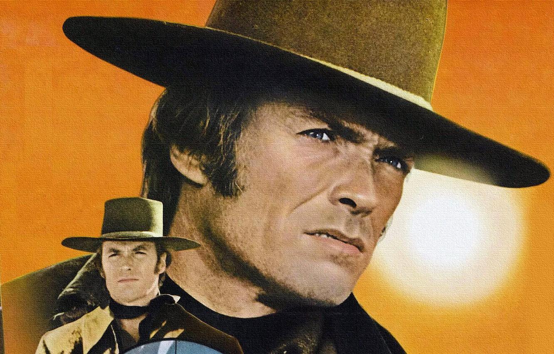 Photo wallpaper texture, canvas, Western, Clint Eastwood, wild West, Joe Kidd