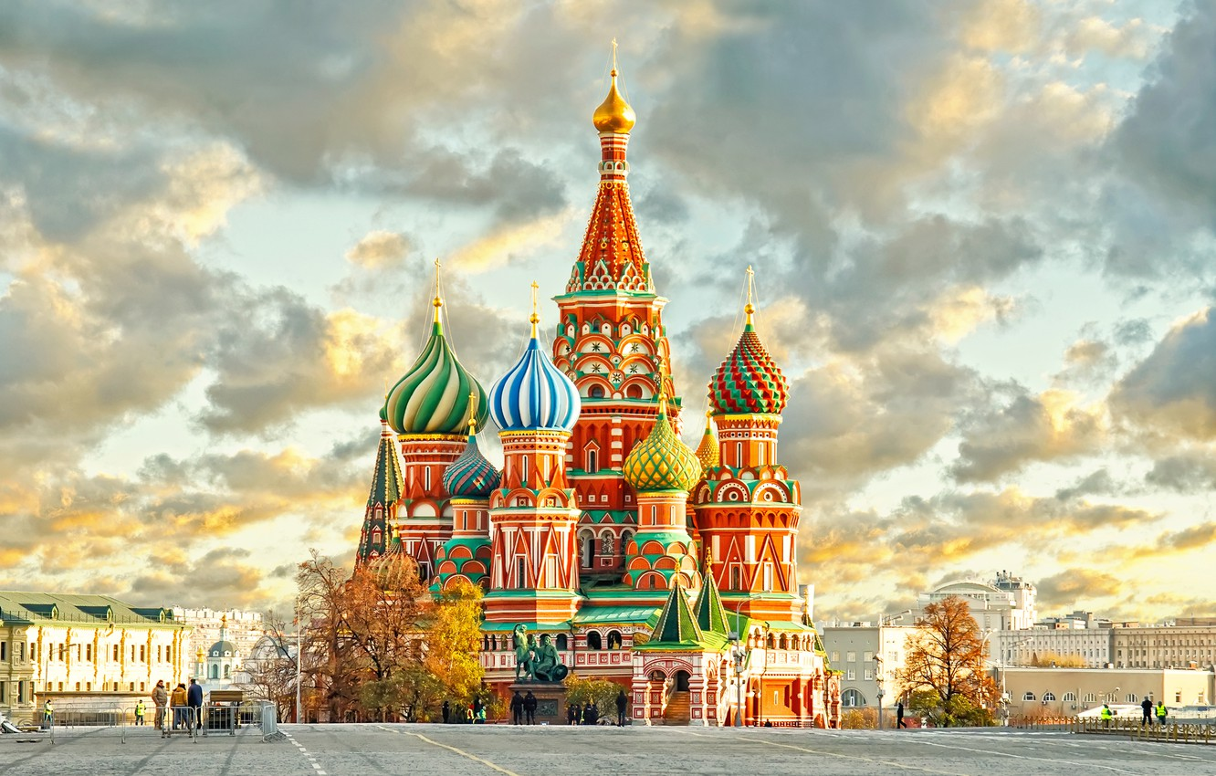 Photo wallpaper city, Moscow, The Kremlin, St. Basil's Cathedral, Russia, Russia, Moscow, Kremlin