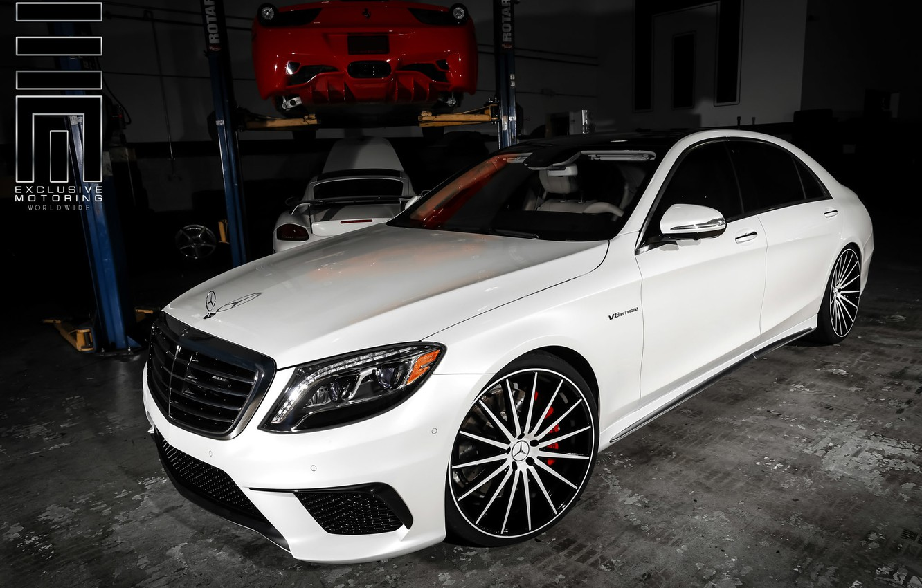 Photo wallpaper machine, auto, Mercedes, Mercedes, Benz, wheels, drives, auto, Vossen Wheels