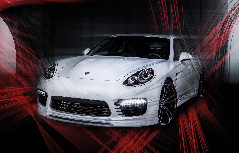 Photo wallpaper Porsche, Panamera, Porsche, Panamera, TechArt, 2015